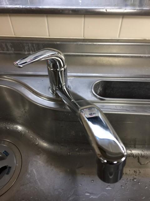 H28.12月 川崎市中原区 三栄水栓 シングルレバー混合水栓交換