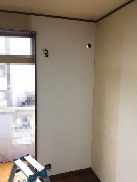 H28.12月 川崎市高津区 エアコン工事に伴うクロス張替え工事