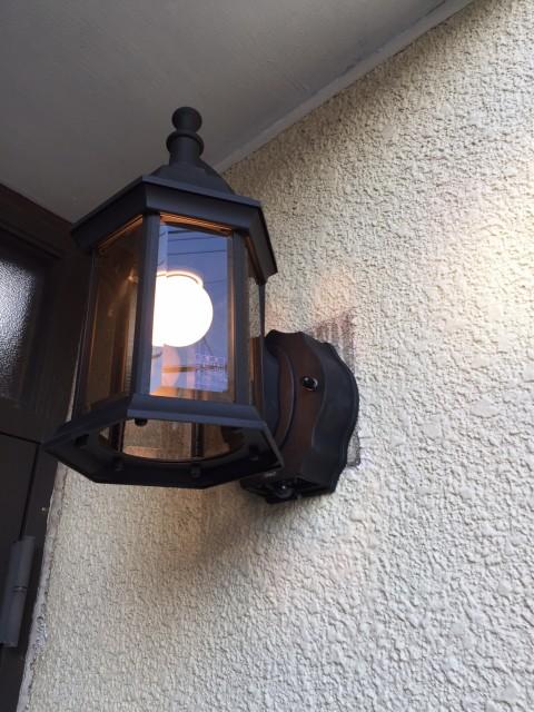 H29.1月 麻生区 オーデリック製人感センサー付き玄関ポーチ灯