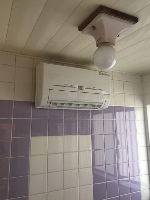 H29.2月 都筑区 浴室暖房新規取付工事【V241BK-RN】※専用電源増設工事有