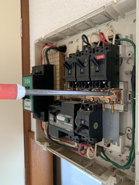 H31.4月 多摩区 ルームエアコン取付工事 三菱MSZ-GV2218